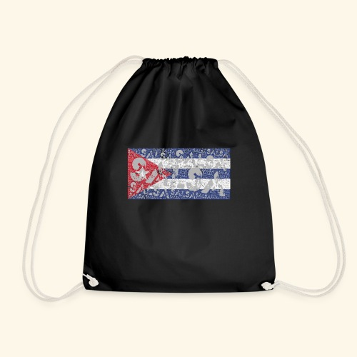 Cubansk Salsa Gave t-skjorte - Drawstring Bag