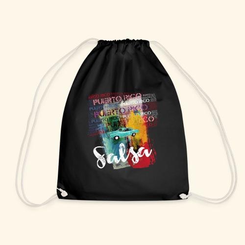 Salsa Puerto Rico Classic Car T-Shirt for Dancers - Drawstring Bag