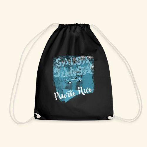 Puerto Rico salsa dance gift for salsa dancers - Drawstring Bag