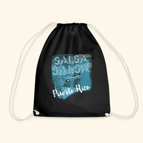 Salsa dance Puerto Rico - Drawstring Bag