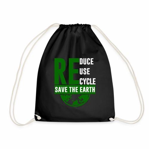 Recycle Klimaschutz Geschenk Mutter Erde - Turnbeutel