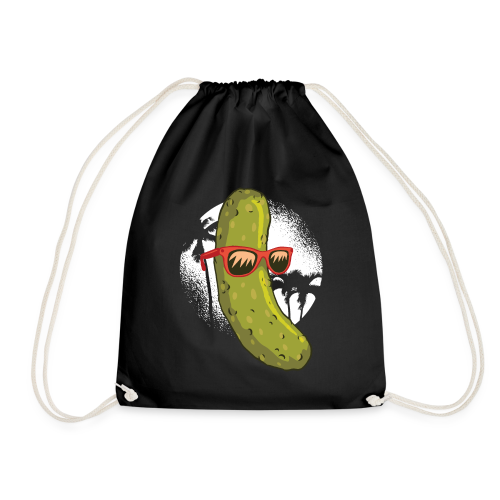 Surfer cucumber - Drawstring Bag