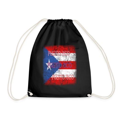 Puerto Rico Flagge Geschenk T-Shirt - Drawstring Bag