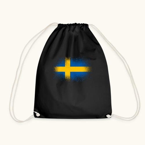 Suède cadeau drôle de drapeau suédois - Sac de sport léger
