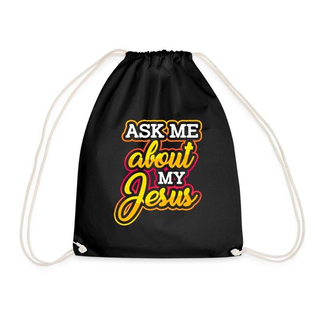 Frag mich über Jesus Christliche Tshirt Sprüche