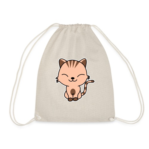 Fröhliche Katze - Turnbeutel