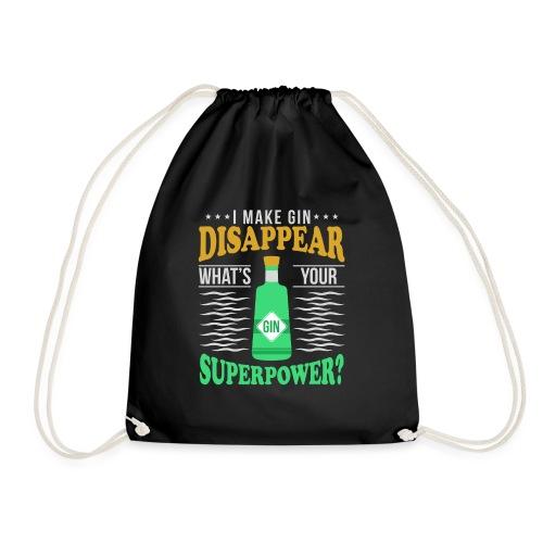 I can make gin disappear - Drawstring Bag
