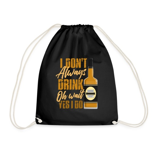 Vieltrinker - drunkard - whiskey - Drawstring Bag
