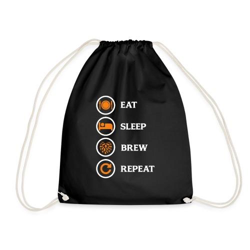 Eat Sleep Brew Repeat Brewers Gift - Drawstring Bag
