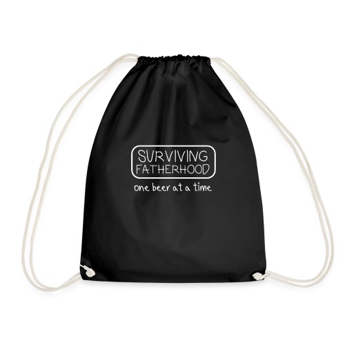 Fathers Day Gift Surviving Fatherhood - Drawstring Bag