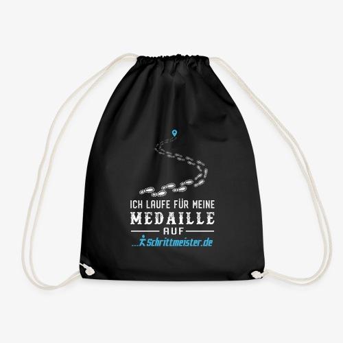 Ich laufe für meine Medaille auf Schrittmeister.de - Turnbeutel