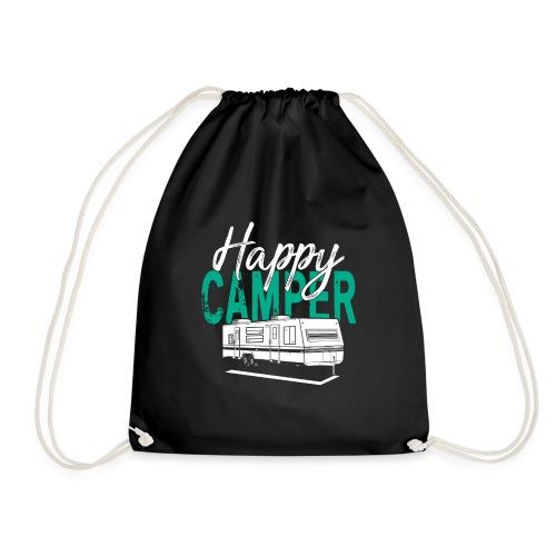 Happy Camper T Shirt Retro Camping Trailer - Turnbeutel