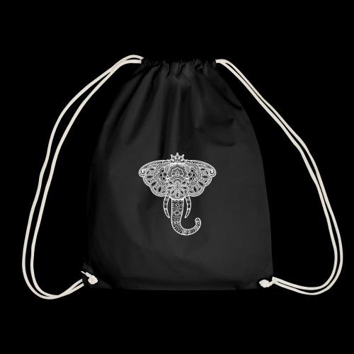 Henna elephant - Drawstring Bag