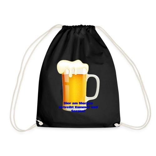 Bier am Morgen vetreibt Kummer und Sorgen Produkte - Turnbeutel