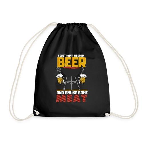 Grillen und Bier der Master trägt das Shirt. - Turnbeutel