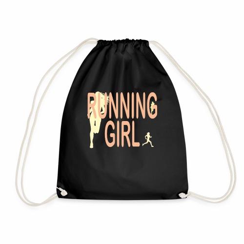 Du bist eine Läuferin ein rennendes Mädchen Jogger - Turnbeutel