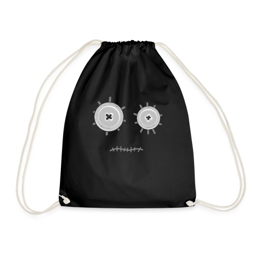 face with button eyes and cooked mouth - Mochila saco