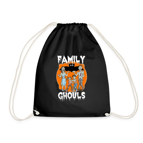 Zombie Family Ghouls Halloween Night Party - Drawstring Bag