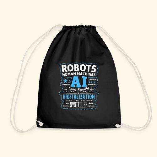 Robots Human Machine Ai Cyber Security - Sacca sportiva