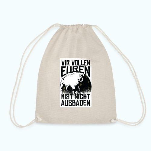 Klare Kante Zeigen - Fridays For Future - Drawstring Bag