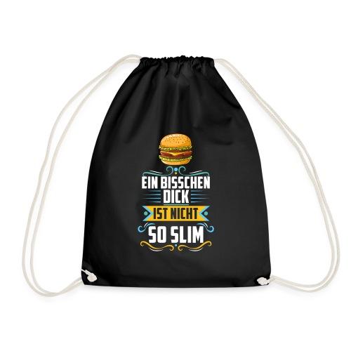 Ein bisschen dick ist nicht so Slim - Burger - Turnbeutel