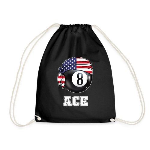 Mens Pool Ace Jersey | Gift for Billiards Player - Drawstring Bag