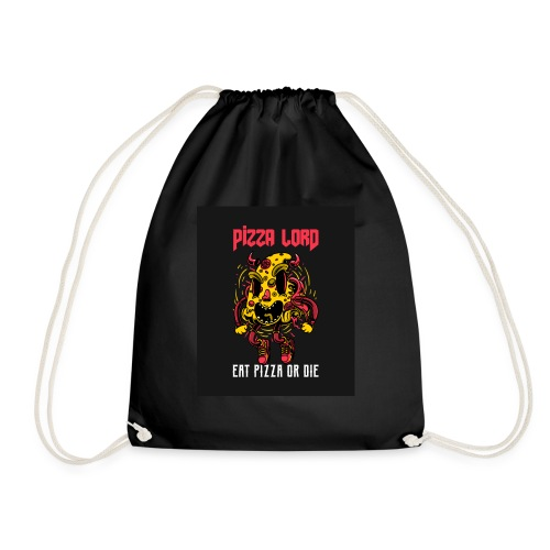Pizza lord eat pizza or die - Drawstring Bag