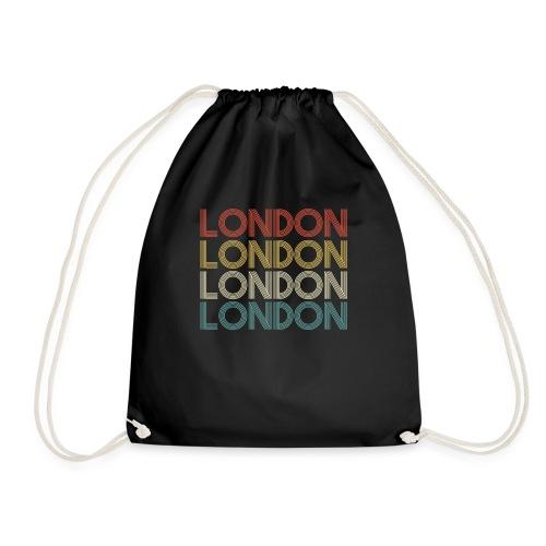Retro London England Souvenir - Vintage London - Turnbeutel
