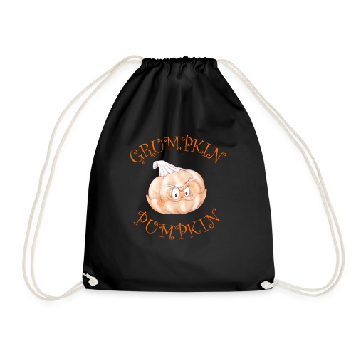 Grumpkin Pumpkin Halloween Night Fun Design - Drawstring Bag