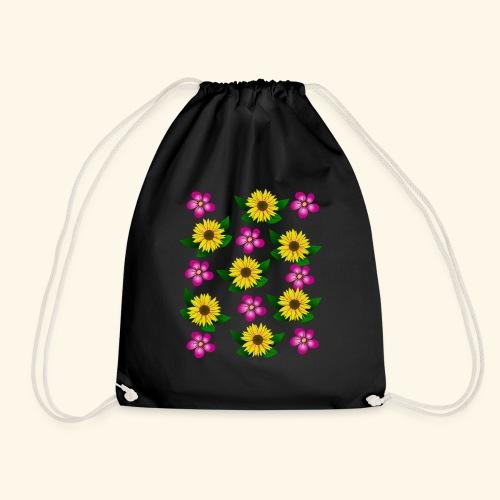 Sonnenblumen, pinke Blumen, floral, Blüten, pink - Turnbeutel