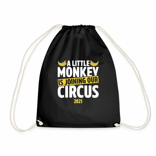A Little Monkey Is Joining Our Circus 2021 Humor - Drawstring Bag