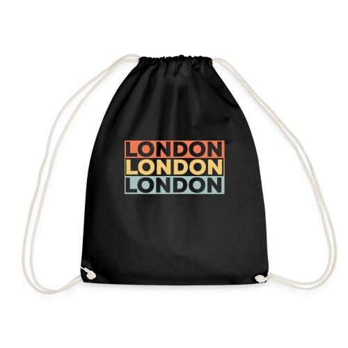 Vintage London Souvenir - Retro Streifen London - Turnbeutel
