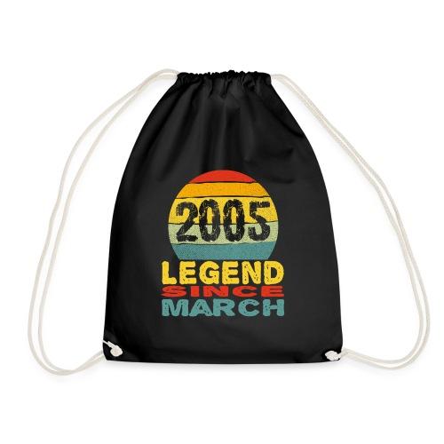 Legend Born in March 2005 Vintage 16th Birthday - Sac de sport léger