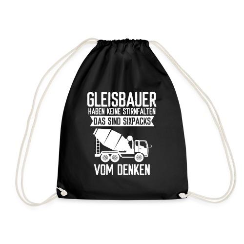 Gleisbauer Sixpacks vom Denken Schienenarbeiter - Turnbeutel