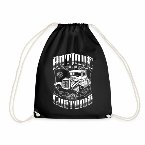 Hot Rod - Antique Customs (white) - Drawstring Bag