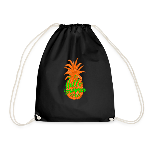 Ananas Sommer Fruchtiges Hallo Sommer Shirt - Turnbeutel