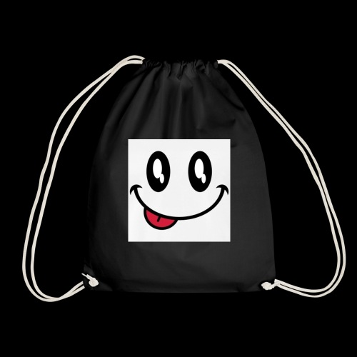 augen-smiley-zunge-t-shirts-maenner-premium-t-shir - Turnbeutel