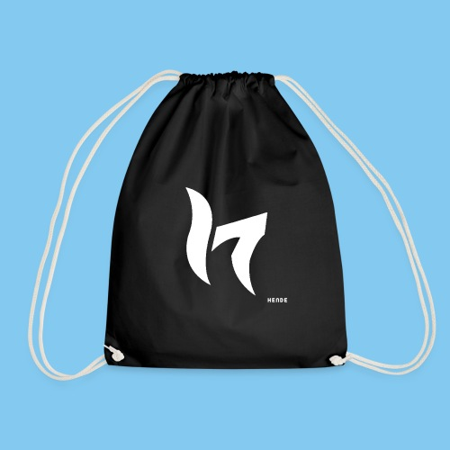 White & Text - Drawstring Bag