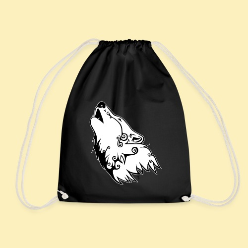 Le Loup de Neved (version contour blanc) - Sac de sport léger