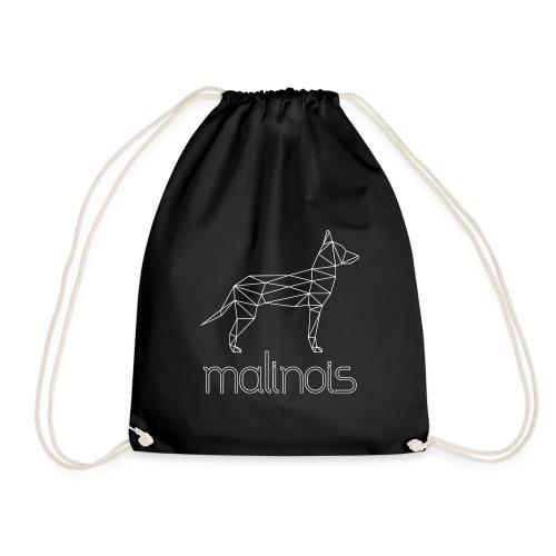 Malinois Schäferhund Geometrisch - weiß - Turnbeutel