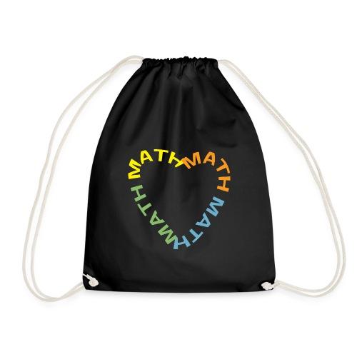 Math Text Heart Light - Drawstring Bag