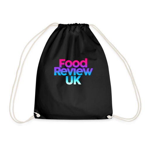 Food Review UK Logo | Gradient Pink to Blue - Drawstring Bag