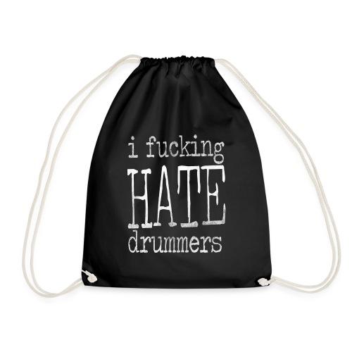 type scratches white - Drawstring Bag