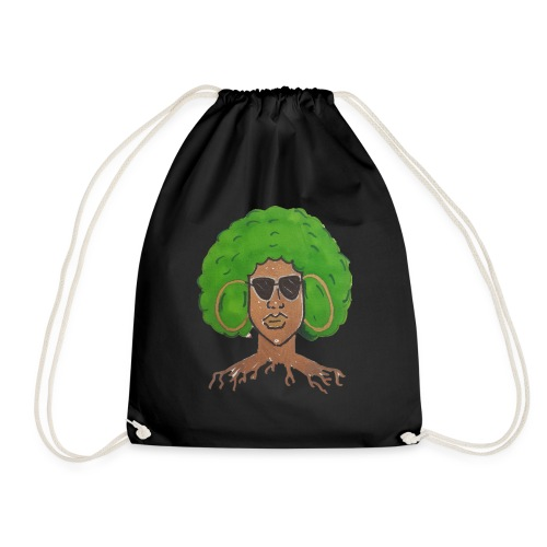 Afro girl - Drawstring Bag