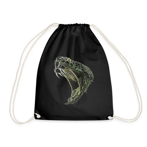 Snake cobra cobra art shirt - Drawstring Bag
