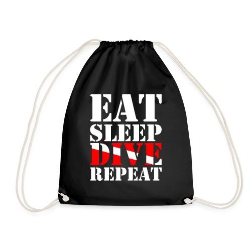 Eat Sleep Dive Repeat - Turnbeutel