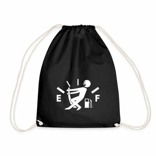 Empty tank - no fuel - fuel gauge - Drawstring Bag