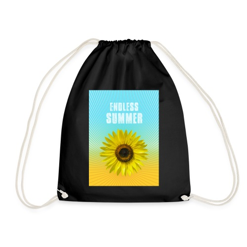 sunflower endless summer Sonnenblume Sommer - Drawstring Bag