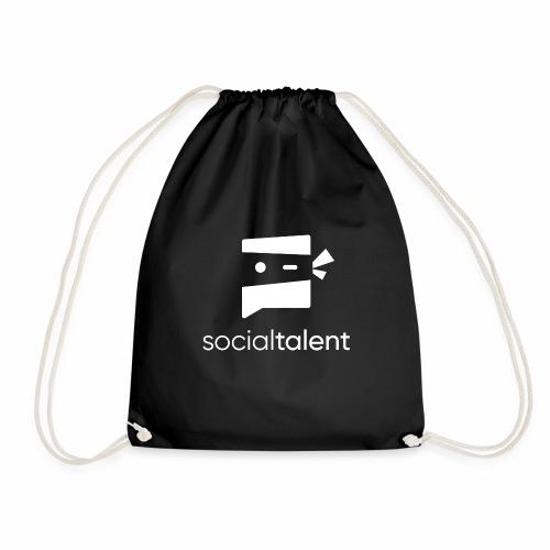 white social talent logo centre - Drawstring Bag