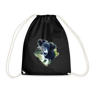 colliegermanshepherdpup - Drawstring Bag